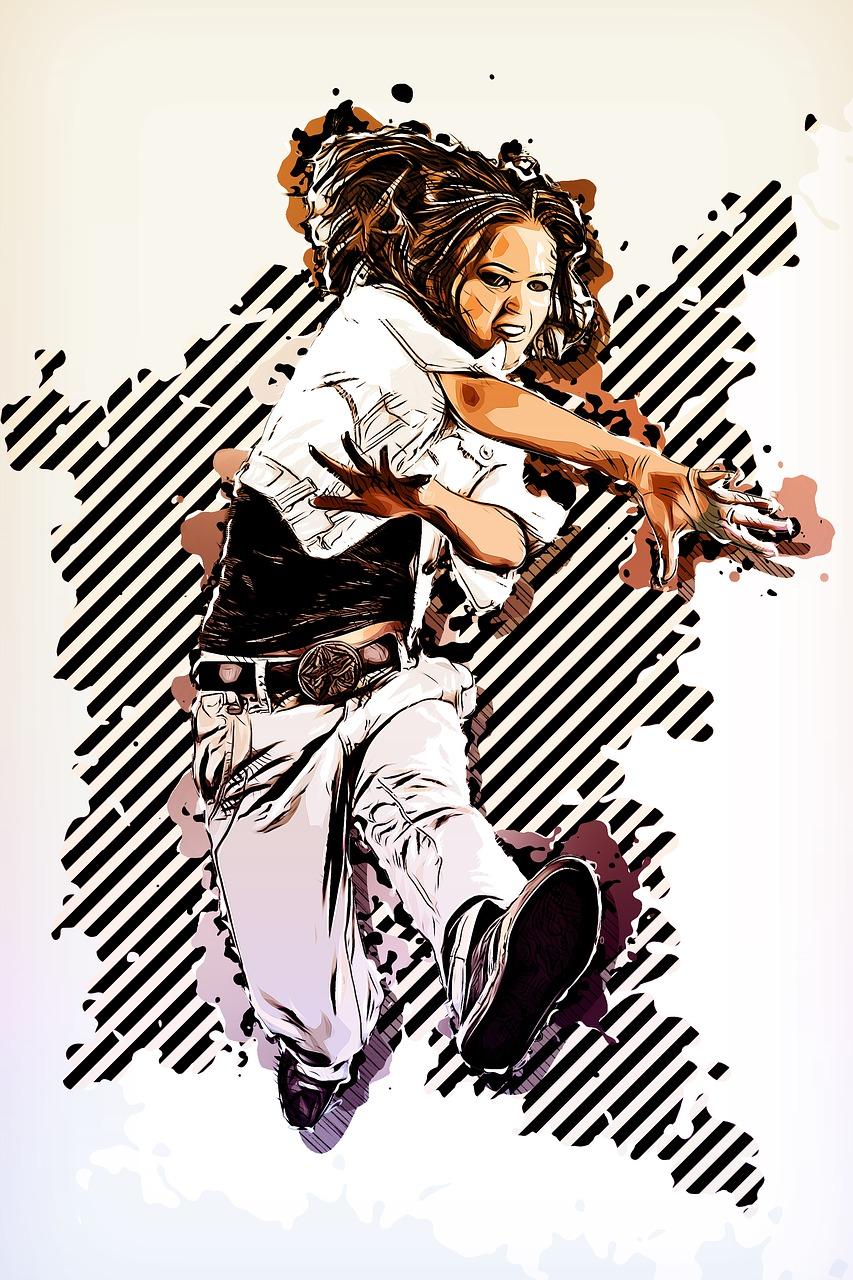 illustration d'une fille prenant un cours de danse street jazz chez KHD à mont de marsan
