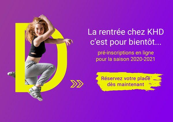 Pré-inscriptions en ligne pour la saison 2020-2021